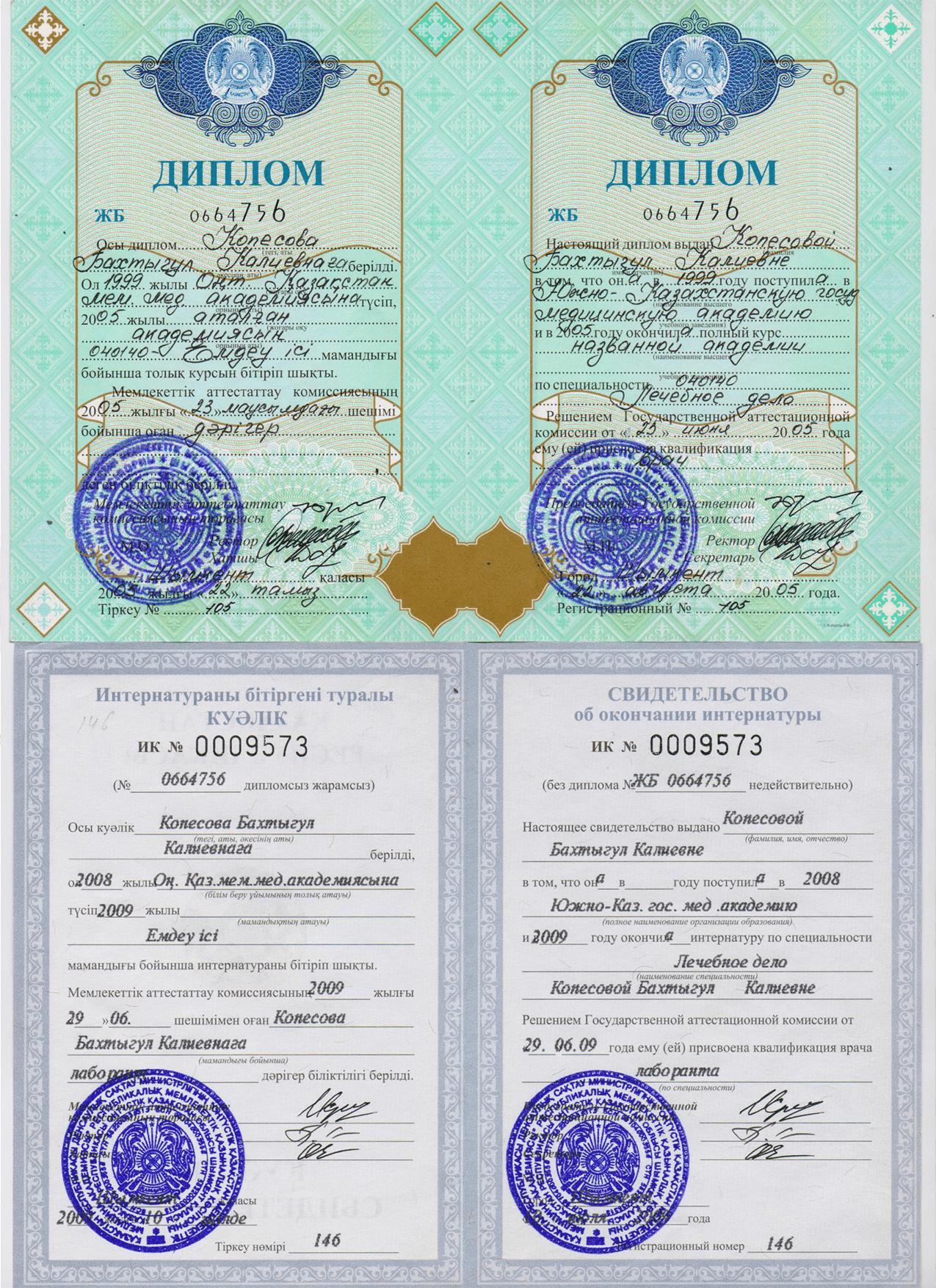 Интернатура Лаборант Клиники Akniet Shipa сайрамский р-н. с. Карабулак